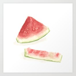 What I've been eating - watermelon Art Print
