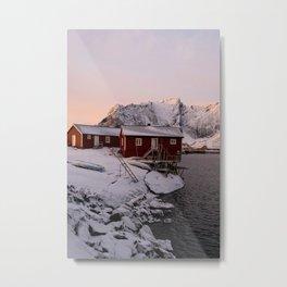 Winter in Lofoten Metal Print