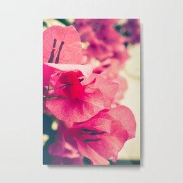 Happy Pink Flowers Metal Print