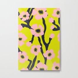 Pink Blooms Everywhere No 03 Metal Print
