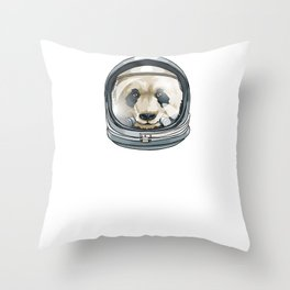 Spaced Out Astronaut Panda Outserspace Science Geek Throw Pillow