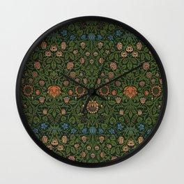 Violet and Columbine - William Morris Wall Clock
