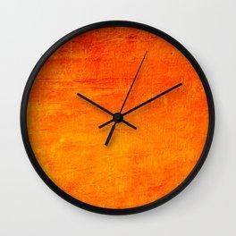 Orange Sunset Textured Acrylic Painting Wall Clock
