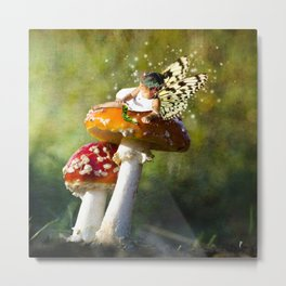 Fairy Neighbor Photo Manipulation Metal Print