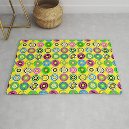 retro skate wheels Rug