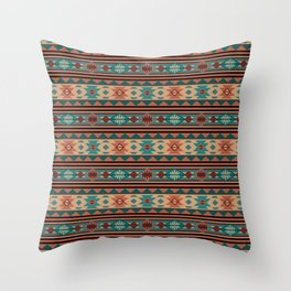 Southwest Design Turquoise Terracotta Throw Pillow