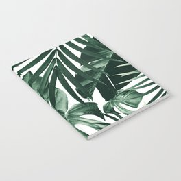 Tropical Jungle Leaves Pattern #4 #tropical #decor #art #society6 Notebook
