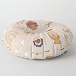 Composition of pretty Doodles #shapeart #digitalart Floor Pillow