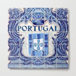 Portugal, art tile Metal Print