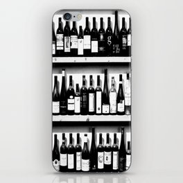 Wine Bottles in Black And White #decor #society6 #buyart iPhone Skin