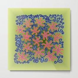 bungong jeumpa series: lightgreen Metal Print