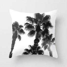 Palm Tree Art Print {3 of 3} | B&W Topical Beach Plant Nature Vacation Sun Vibes Artwork Throw Pillow