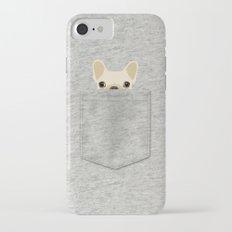 Pocket French Bulldog - Cream iPhone 7 Slim Case