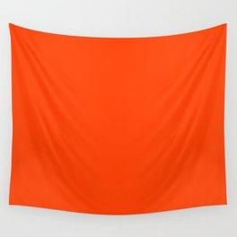 Bright Fluorescent Neon Orange Wall Tapestry