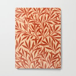 William Morris Willow Pattern, Mandarin Orange Metal Print