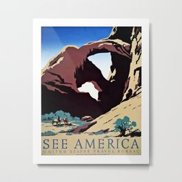 See America travel ad Metal Print