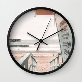 Lifeguard Tower Venice Beach Wall Clock