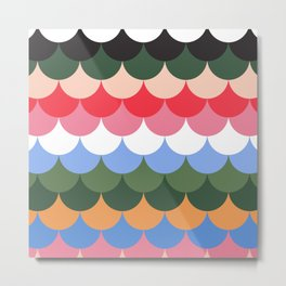 Colourful Scales Metal Print