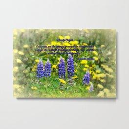 Serenity_Prayer - Spring Flowers Metal Print