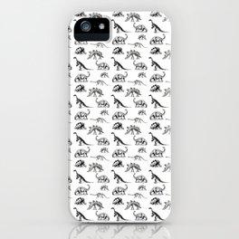 Museum Animals | Dinosaur Skeletons on White iPhone Case