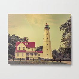 North Point Lighthouse Milwaukee Wisconsin Lake Michigan Light Station Metal Print