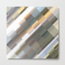 Abstract gradient art geometric background with soft color tone, cell grid. Ideal for artistic conce Metal Print