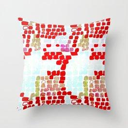 Snake Skin Red #animalprint #homedecor Throw Pillow