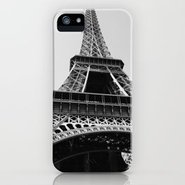 Eiffel Tower // Looking up at the World's Most Famous Monument in Paris France Classic Photograph iPhone Case