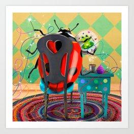 You Found Your Stitchy Bug Art Print