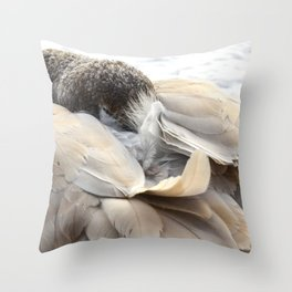 Young Trumpeter Swan by Teresa Thompson Throw Pillow