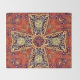 Chestnut Greek Cross Throw Blanket