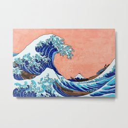 The Great Wave of Kanagawa Metal Print