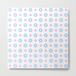 stars 118- blue and pink Metal Print