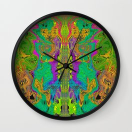 Twisted Bug Face (Light) (Psychedelic) Wall Clock