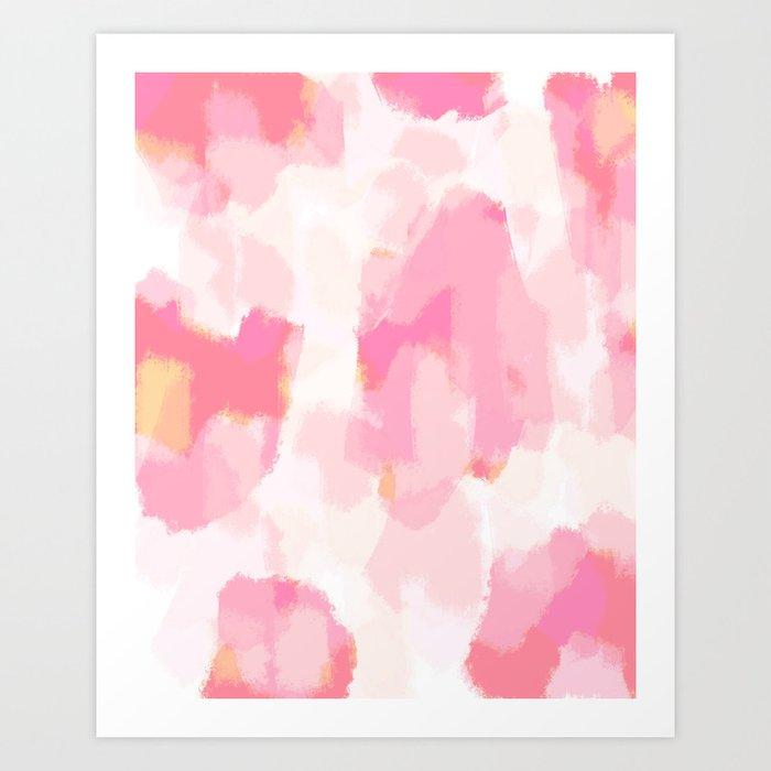 Adonia - blush pink abstract art Kunstdrucke