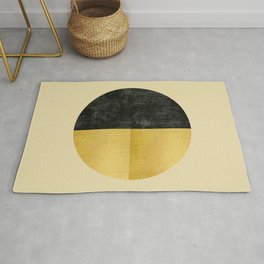 Black and Gold Circle 03 Rug