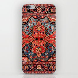 Kashan Poshti Central Persian Rug Print iPhone Skin