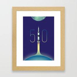 Apollo 11 Saturn V 50th anniversary Framed Art Print