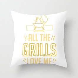 Griller Grill Master Grilling Funny BBQ Lover Gift Throw Pillow
