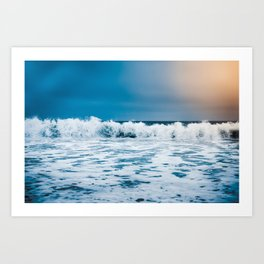 The wild Pacific Ocean in Carmel-by-the-Sea - California Art Print
