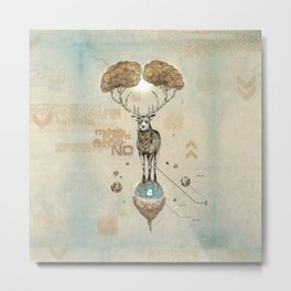 Asteroid Brain Diagnostics // (metaphysical deer) Metal Print