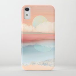 Mint Moon Beach iPhone Case