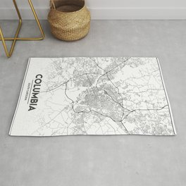 Minimal City Maps - Map Of Columbia, South Carolina, United States Rug