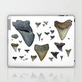 Fossil shark teeth watercolor Laptop & iPad Skin