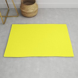 Australian Great Barrier Reef Neon Yellow Sergeant Major Fish Rug