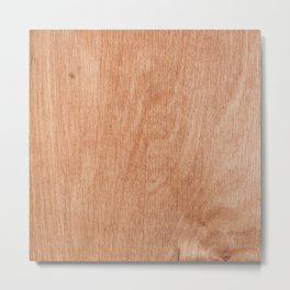Abstract pastel brown rustic wood texture Metal Print