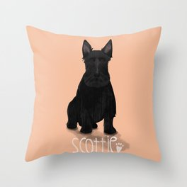 A Dogs Life - Scottie Throw Pillow