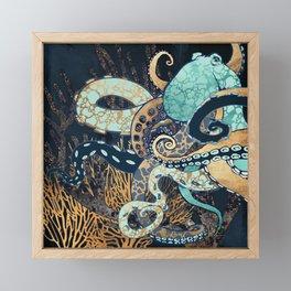 Metallic Octopus II Framed Mini Art Print