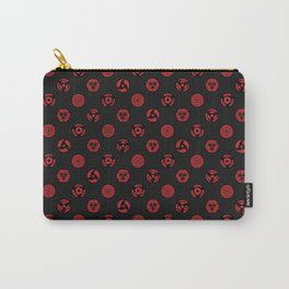 Visual Jutsu - black & red Carry-All Pouch