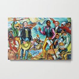 """African American Classical Masterpiece """"The Repatriation of the Freed Captives"""" by Hale Woodruff Metal Print"""